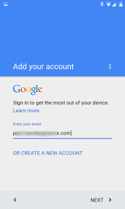 Enter your business Google account details