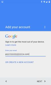 Enter your business Google account details